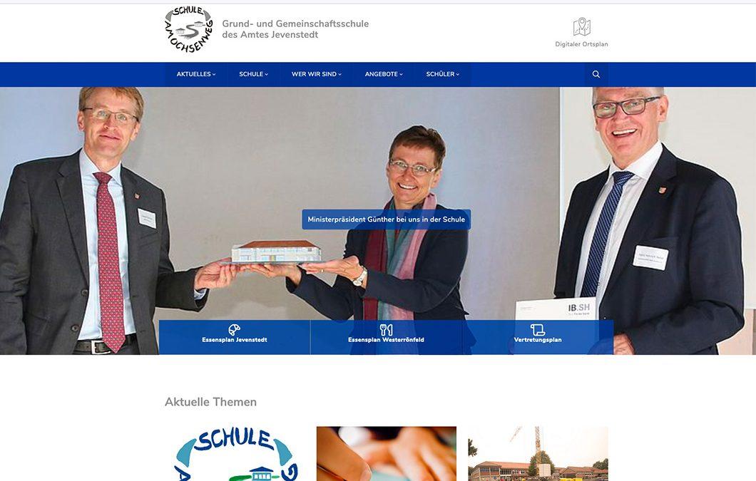 Beratung zu Website-Relaunch und Pressetermin für Schule am Ochsenweg